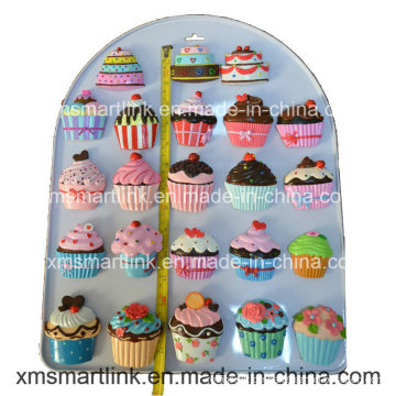 Handwerk Polyresin Cupcake Kühlschrankmagnet