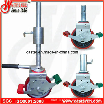 8 Inch Europe Style TPU Scaffold Castor with Long Stem