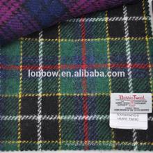 Green Tartan Harris Tweed 100% Schurwolle für Handschuhe