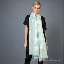 35% Coton 65% Écharpe À Teinture De Fils De Polyester Pour Mode Femmes