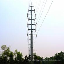 110kV Передача мощности Стальной полюс
