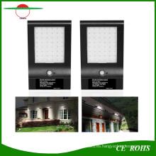 Alto brillo 850lm largo último 4400mAh batería Solar infrarrojo LED luz de la pared Delgado al aire libre 48LED sensor de movimiento jardín lámpara