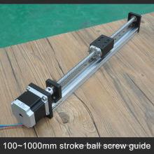 Diapositiva lineal barata con motor paso a paso con tornillo de bola de paso de 10 mm