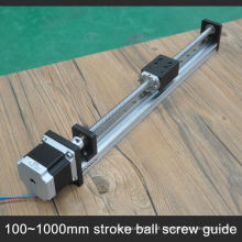Slide linear barato com motor de passo com parafuso de esfera de 10mm