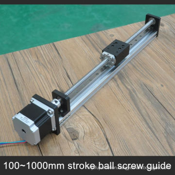 Cheap linear slide with step motor with 10mm pitch ball screw