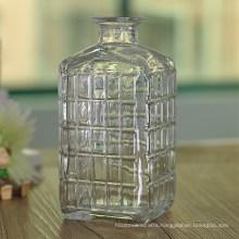 1000ml Cut Grid Glass Wisky Bottle Wholesale