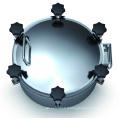 Trou d'homme à pression en acier inoxydable sanitaire (IFEC-MH100001)