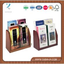 2-stufiger 4-Taschen-Prospekthalter für Tischplatten