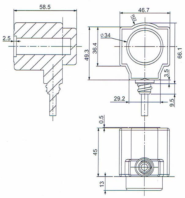 Dimension of BB15058555 Solenoid Coil: