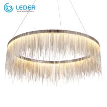 Iluminação de lustre de vidro com cercadura LEDER