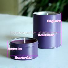 Home Decorative Lavender Lilin Scented dalam Tin Jar