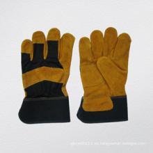 Vaca dividida en cuero reforzado Palm Work Glove-3088