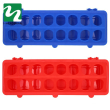Hot Selling chicken pigeon Plastic long Feeder trough with 16 hole