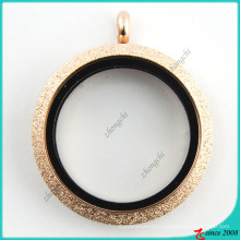 Rose Gold Spark Open Glass Locket Wholesale (FL16041808)
