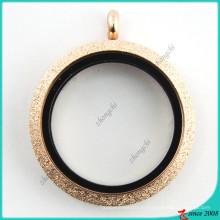 Розовое золото Искра открытая стекло медальон Оптовая торговля (FL16041808)