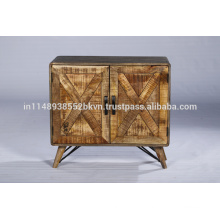Industrial Vintage Reclaimed Natural Wooden Cabinet
