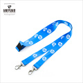 Double Hooks Blue Polyester Lanyard for Famous Computer Brand with Safety Breakaways