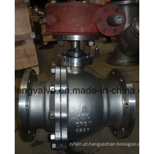Flange End Stainless Steel Trunnion Montado válvula de esfera
