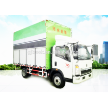 4X2 unidad Sinotruk HOWO camión de tratamiento de aguas residuales / camión de eliminación de aguas residuales / camión de eliminación de aguas residuales para 5-12CBM