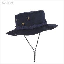 chapeaux de chapeau de pêche de disquette personnalisée hommes militaires boonie chapeaux de seau avec de la ficelle