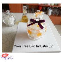 2016 venda quente elegante transparente vidro Jar Candle perfumado