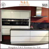 Manufactory price modern wooden lacquer kitchen cabinet design with island