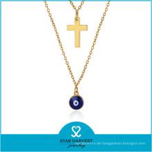 Fabrik Günstigen Preis Großhandel Strass Halskette Set Silber Halskette (J-0230N)