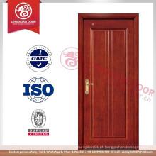 Projeto de porta de melamina sem pintura, porta de placa de melamina ecológica, portas de madeira MDF de qualidade