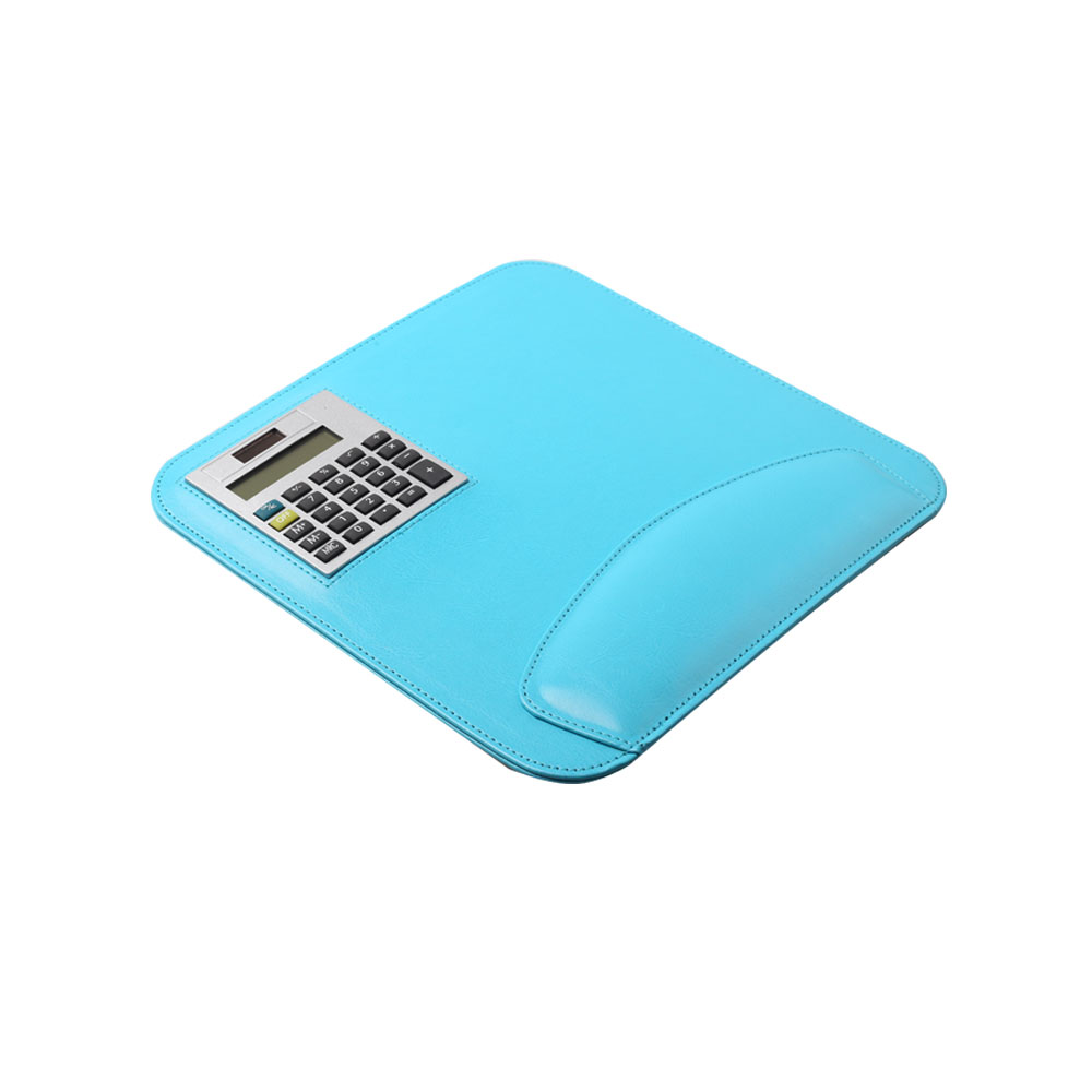 8 Digits PU Mouse Pad Calculator with Dual Power