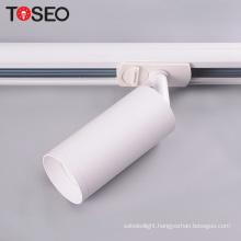 Surface mounted cylinder adjustable rail spot lighting gu10 led 3 wires track light fixture