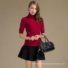 Luxus Kaschmir-Pullover für Frauen Benutzerdefinierte Revers Pullover Wolle Kaschmir Mischung Pullover