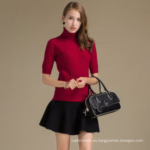 Suéter de cachemira de lujo para las mujeres Jersey personalizado de lana de cachemira suéter de solapa