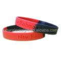 Segmented colors silicone wristbands