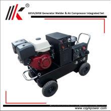 Motor diesel refrigerado por aire con el generador 6kw del dínamo del soldador para la venta