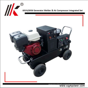 С воздушным охлаждением дизельные двигатели с генератором сварщика Динамо 6kw для продажи