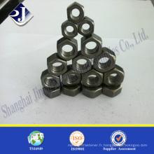 Ecrou hexagonal lourd fini noir A194 Ecrou hexagonal lourd de 2h Écrou hexagonal lourd