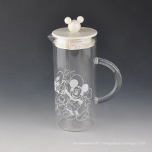 Decal Printing Glass Jar with Cute Lid