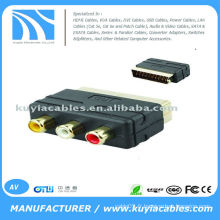 RGB Scart to 3 RCA AV Audio Video Converter Converter