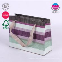 Bolso hecho a la medida del regalo de las compras del papel de la ropa