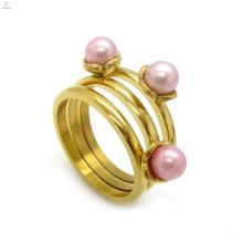 Preço barato banhado a ouro anéis de noivado design para as mulheres