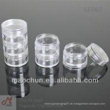 SF003 Transparente Kosmetikcreme stapelbares Glas