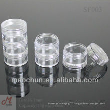 SF003 Transparent cosmetic cream stackable jar