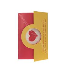 Fait en carte de voeux d'anniversaire de qualité supérieure de la Chine, toute la carte de voeux d'occasion, 16 * 14cm, impression 4c ou autre
