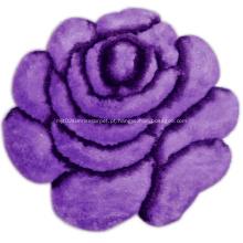 Tapete 3D de flores macias e de seda