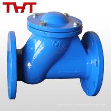 Válvula de retención galvanizada de la bola del reborde de hierro Italia / válvula de la aleta de no retorno