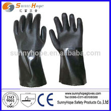 double dipped PVC coated with sandy finish,waterproof car wash gloves