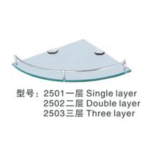 Tablette d'angle en verre trempé pour articles sanitaires