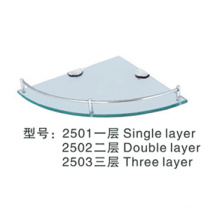 Sanitary Ware Tempered Glass Corner Shelf
