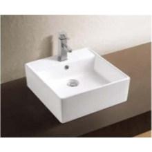 Lavabo de cerámica con accesorios para baño (W7140)