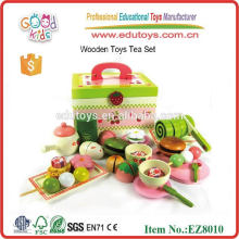 Handmade and Eco-friendly Wooden Tea Set Toys For Children